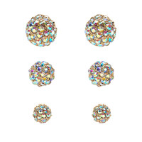 RS Pave 3 Size 3pair Earring