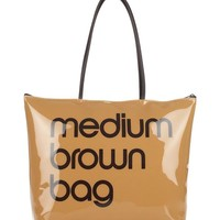 Bloomingdale's Zip Top Medium Brown Bag - 100% Exclusive | Bloomingdales's