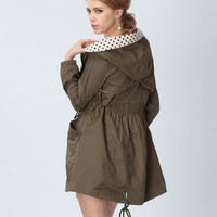 'The Abigail' Printed Collar Hooded Jacket