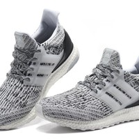 Ultra Boost 3.0 Oreo Gray Athletic Sneakers