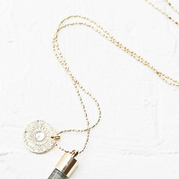 Crystal and Coin Necklace - Urban Outfitters