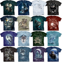Wolf T-Shirt Three Wolf Moon Tee Howling Wolves Twilight The Mountain S-3XL NEW!