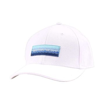 Wave Logo Twill Hat in White by Waters Bluff