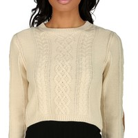 Natural Chunky Cable Sweater