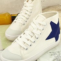 Sneakers with Star White GBV741