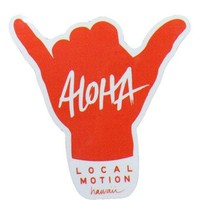 Local Motion Aloha Shaka Sticker, Black or Red