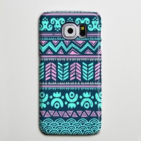 Turquoise Aztec Tribal Retro Galaxy S8 Plus Case Galaxy S7 Case Samsung Galaxy Note 5  Phone Case s6-034