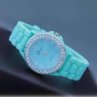 Mint Color Silicone Watch 04 by goodbuy on Zibbet