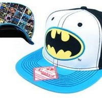 Batman Logo Men's Tri-Color Snapback Cap