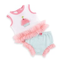 Baby Aspen Baby Cakes 2-Piece Cupcake Outfit