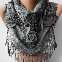 Gray Gorgeous Scarf Elegant and Classy Mothers Day gift