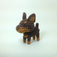 Doberman Red Amigurumi Dog West Highland Terrier Crochet Puppy Stuffed Animal Plush Doll / Made to Order