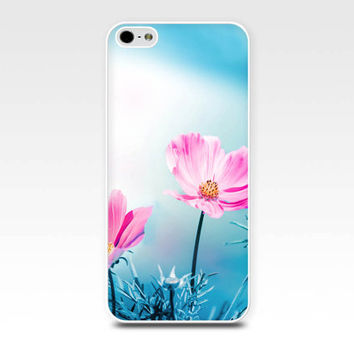 floral iphone case 5s pink flower iphone case 6 nature iphone case 4s girly iphone case 5 fine art iphone case 4 pink teal flowers spring