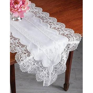 Sweetbriar Lace Table Runner 16X72