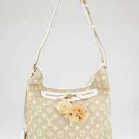 Louis Vuitton Limited Edition Blanc Monogram Sabbia Besace Bag