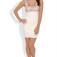Bodycon Dress with Sequin Tank Bodice and Shutter Skirt