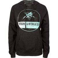 YOUNG & RECKLESS Upside Down Womens Hoodie
