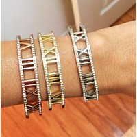 Sold out - Roman Numeral Crystal Encrusted Bracelets