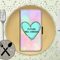 Future Mrs. O'Brien Pastel Tumblr Heart Cute Teen Wolf Wallet Phone Case For iPhone 4 and 4s and iPhone 5 and 5s and 5c iPhone 6 and 6 Plus