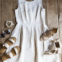 White Marsh Fit and Flare Dress, Champagne