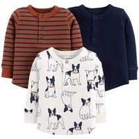 Baby Boy Carter's 3-Pack Dog, Stripes & Solid Tees | null