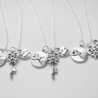 3 Best Friends Are The Key To My Heart  Pinky Promise  Necklaces Bff