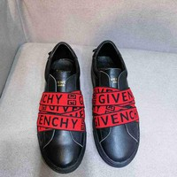 Givenchy Women Fashion Casual Flats Shoes Leather Red Black Men Sneakers Sport Shoes