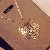 KENZO Stylish Women Men Tiger Head Simple Stainless Steel Necklace Accessories Jewelry