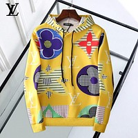 Louis Vuitton Men Fashion Casual Top Sweater Pullover Hoodie