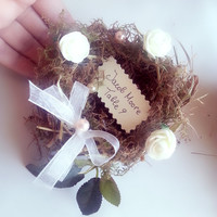 Wedding Nest Place Cards, Rustic : Set of 12 Woodland Wedding Nest Place Cards, Table Numbers, Rustic, Country