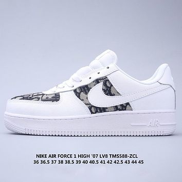 NIKE AIR FORCE 1 '07 AF1 x Dior joint low-top wild casual sneakers shoes
