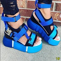 Summer Popular Woman Cesual Stitching Color Sandals Shoes