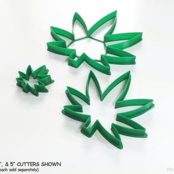 Kush Kutter - Marijuana Leaf Cookie Cutter