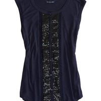AEO Women's Sequined Button Fr