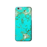 P2377 Turquoise Gemstone Texture Graphic Printed Case For IPHONE 6