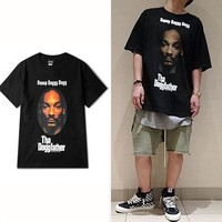The Doggfather Snoop Dogg Printed Short Sleeve T shirt