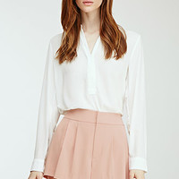 Woven Pleated Shorts