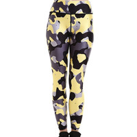 Camouflage Stretch Quick Dry Active Leggings
