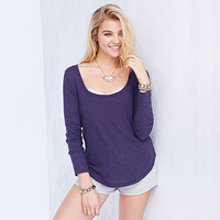 Solid Knit Long Sleeve Top
