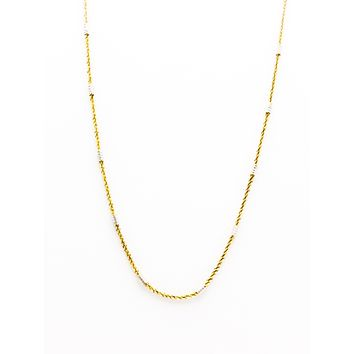 Bar Style Twist Italian Mix Color Chain Necklace | 925 Sterling Silver