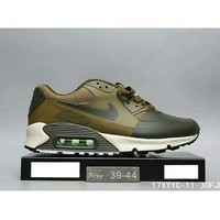 Tagre™ Nike MAX 90 ULTRA AIR and waffle new men and women fashion casual shoes F-HAOXIE-ADXJ Army green