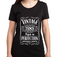 Vintage Aged Of Perfection 26th Women Tshirt