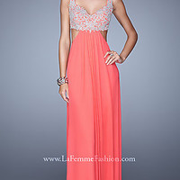 Floor Length La Femme Dress with Sweetheart Neckline