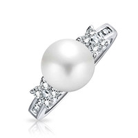 Bling Jewelry Pearl Proposal Ring