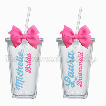 Bachelorette Party acrylic cups! Personlized for each girl! bachelorette cups
