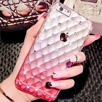 Fantasy Gradient Color TPU Mobile Phone Case For iPhone 6 4.7 6S Full Body Glitter Diamond Clear Cover For iPhone 6 6S Plus 5.5
