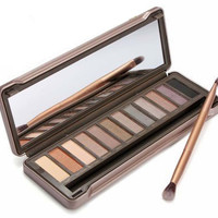 """Naked"" Cosmetic 12 Color Matte Pearl Nude Color Eye Shadow Box Makeup"