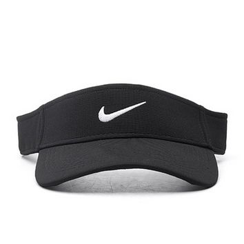 NIKE New fashion embroidery hook hollow couple cap hat Black