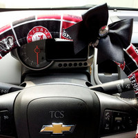 Roll Tide Alabama Steering Wheel Cover with Bow