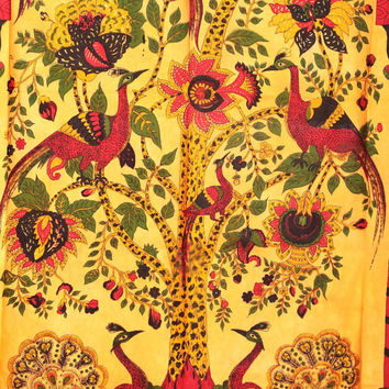 Tree of Life Wall Hanging, Indian Tree of Life Hippie Tapestry, Bohemian Tapestry, Hippie Wall Hanging, Indian Bed Cover, Cotton Bed Sheet